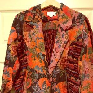 Cache Vintage 100% cotton Abstract Jacket Petite